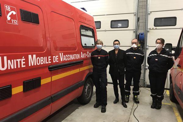 Un camion du SDIS25 a été transformé en centre de vaccination mobile par les pompiers du Doubs