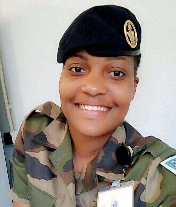 Morgane Blanchet quant elle était encore militaire au 54e régiment d'Oberhoffen.