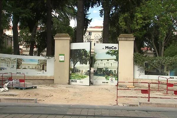 Le chantier du MOCO, futur musée d'art contemporain de Montpellier