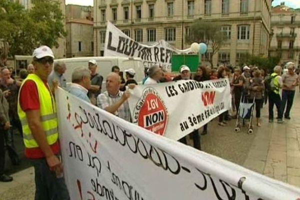 Montpellier - manifestation des anti-LGV entre Montpellier et Perpignan - 8 octobre 2012