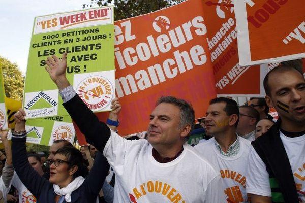 Le collectif des Bricoleurs du Dimanche, lors d'une manifestation à Paris en octobre dernier.