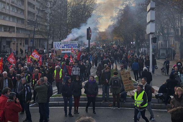 manifestation contre la réforme des retraites mardi 10 décembre à Toulouse