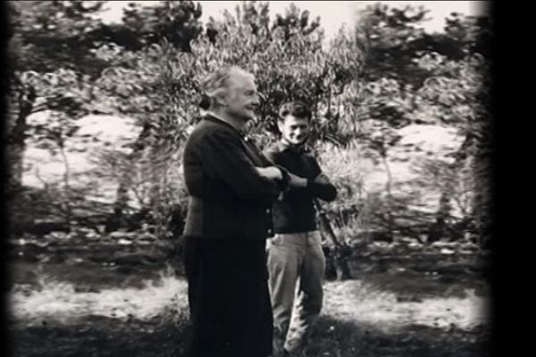 Léontine Bracchi aux côtés de Daniel Herzbaum, en 1966