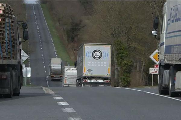 La RN 147 entre Poitiers et Limoges est une des routes les plus dangereuses de la région.