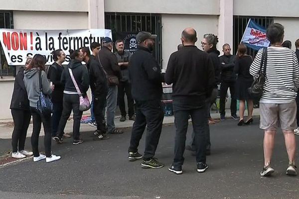 Mende : grève des agents des Finances publiques, les élus de Lozère votent une motion contre le plan de réorganisation - 6 septembre 2019.