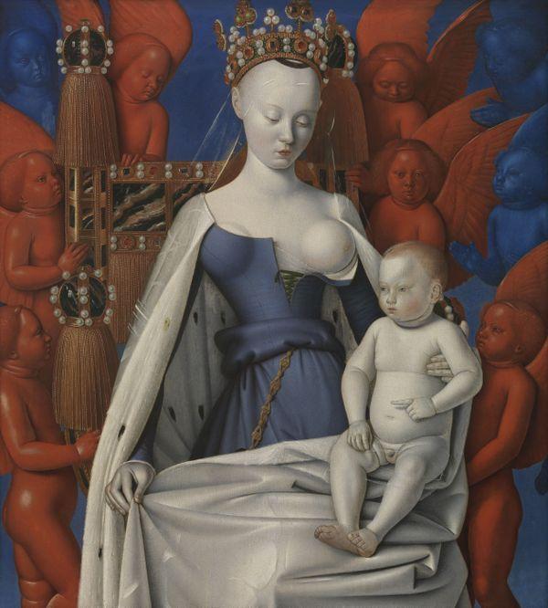 La Vierge allaitante en manteau d'hermine représentée sous les traits d'Agnès Sorel, Musée royal des Beaux-Arts d'Anvers.