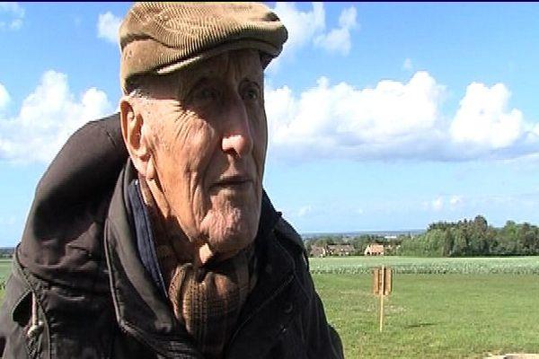 le vétéran allemand Hans Sauer en Normandie en juin 2014