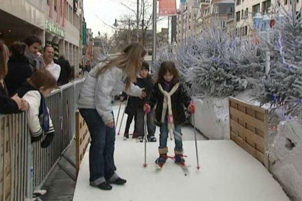 Y a même une piste de ski de fond (pour les enfants)