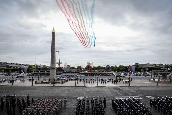 La Patrouille de France ouvre le défilé du 14 juillet. Archives 2020