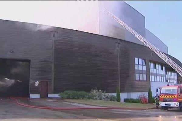 Incendie à l'usine d'incinération de Noidans le Ferroux près de Vesoul