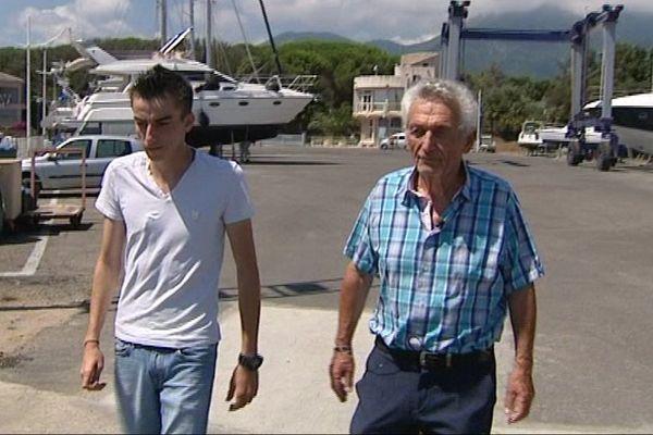 Le grand frère, Esteban, et le grand-père, Francis Orsini, de la victime de l'accident de Taverna.