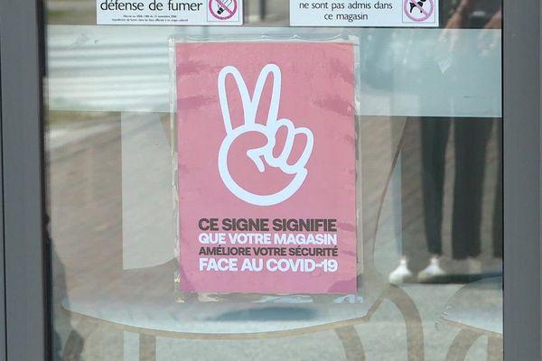 Un logo et un label pour montrer les efforts des commerçants pour améliorer la sécurité de leur clientèle, face au virus.