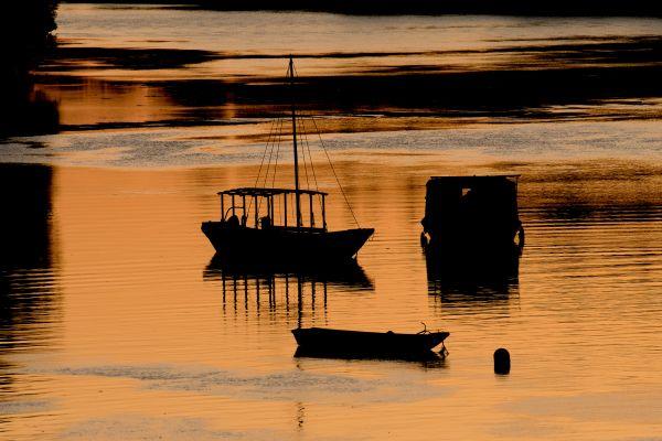 Un coucher de soleil sur la Loire