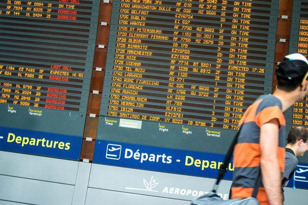 A l'aéroport de Roissy-Charles-de-Gaulle.