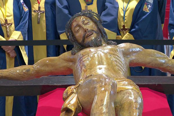 Agde (Hérault) - La statue en bois du Saint-Christ alimente depuis 500 ans les légendes de la ville - 2020.