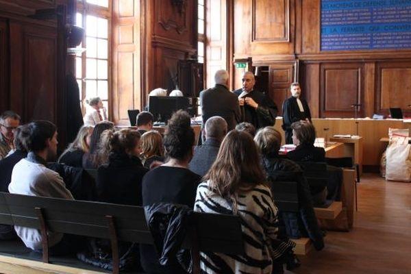 La salle d'audience de la cour d'assises à Vesoul.
