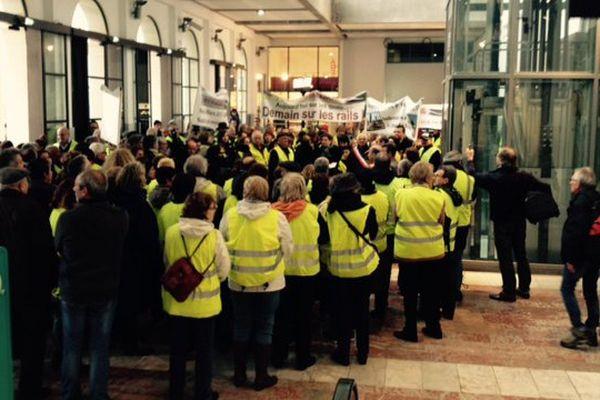 Montpellier - manifestation des habitants de Mudaison contre les nuisances de la future LGV Nîmes-Montpellier - 21 mars 2015.