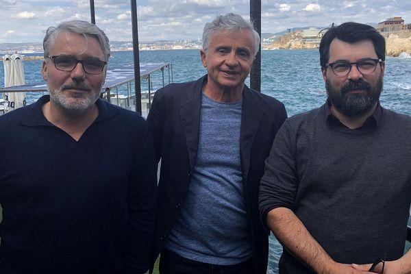 Nicolas Pagnol (à gauche), aux côtés de Fabrice Coat (au centre) et Fabien Béziat (à droite).