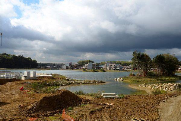 Le chantier du projet Villages Nature, en 2016.