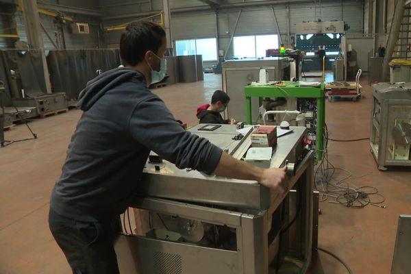 La machine est fabriquée dans cette usine de Trambly (71)