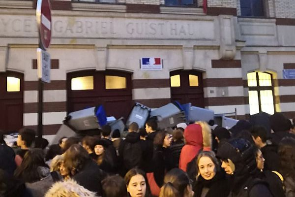 Blocage au lycée Guis't'hau à Nantes, le 30 janvier 2020