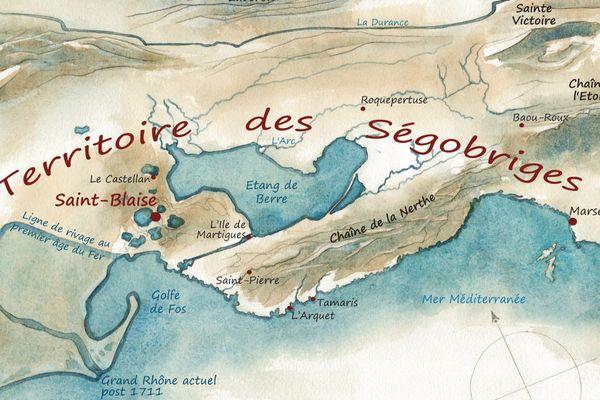 Le territoire des Ségobriges en 600 avant Jésus-Christ.