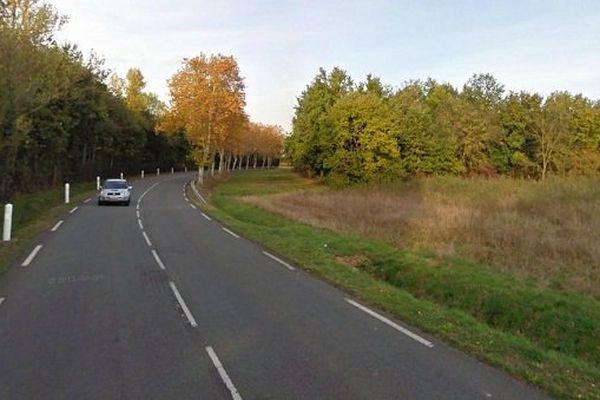 L'accident a eu lieu sur la route de Toulouse à Villemur