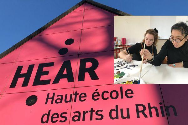 """La Haute école des arts du Rhin (HEAR) dispense un module intitulé """"Rencontres singulières"""" . Etudiants et artistes en situation de handicap y travaillent en commun."""