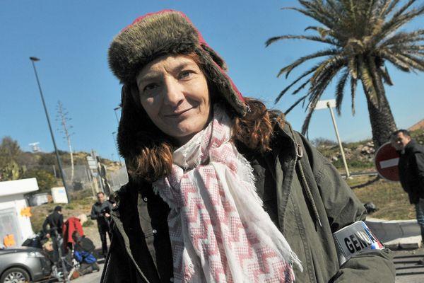 """La comédienne Corinne Masiero, lors du tournage d'un épisode de """"Capitaine Marleau""""."""