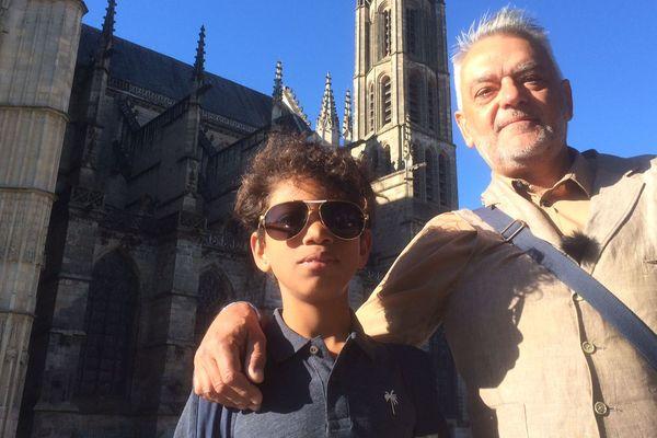 Laurent Pingault et son fils Oliver