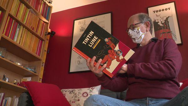 Collectionneur dans l'âme, Claude Braud possède plus de 800 albums de Tintin chez lui.