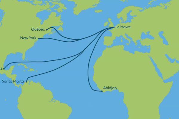 Les nouvelles lignes maritimes prévues pour le transport de café au Havre  par cargo à voile