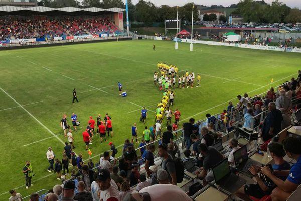 Les supporters Aurillacois étaient venus en nombre pour ce match de reprise, après avoir été privé de stade pendant plus d'un an.