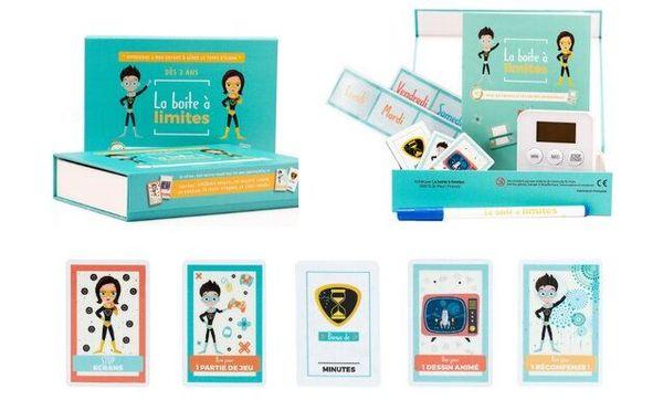 """La """"boite à limite"""" est composée de différents éléments magnétiques et destinée aux enfants de 3 à 11 ans."""