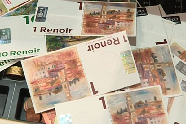 Illustration billet Renoir (la monnaie cagnoise)