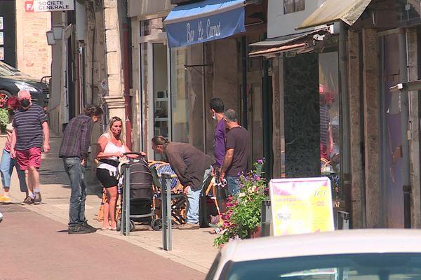 Le centre-ville de Tournus