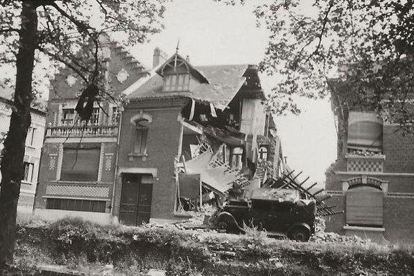 Maison particulière détruite en bordure du parc de la Hotoie.