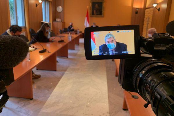 Conférence de presse ce samedi 9 janvier à Monaco.