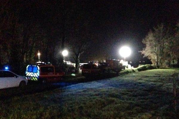 Crash d'un hélicoptère près de Lugon le 20 décembre 2013