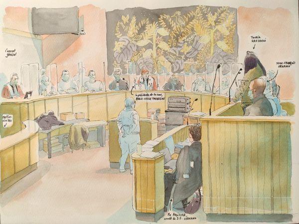 Affaire Guittard, image générale de la cour, le 15 décembre 2020