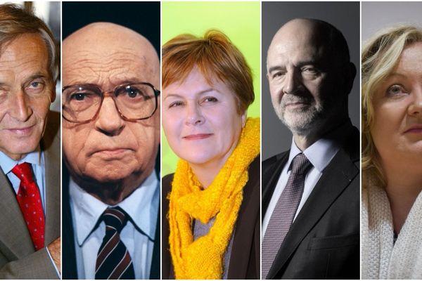Raymond Forni, Edgar Faure, Dominique Voynet, Pierre Moscovici et Sophie Montel