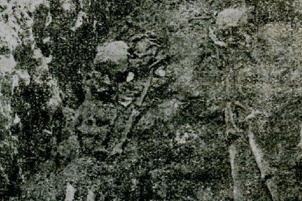 Les squelettes de Jean des Quesnes, d'Agne de La Tour d'Auvergne (ou Liergues d'Auvergne), du Petit Hellandes et de Gallois de Fougières ont été exhumés en 1936 à Auchy-lès-Hesdin.