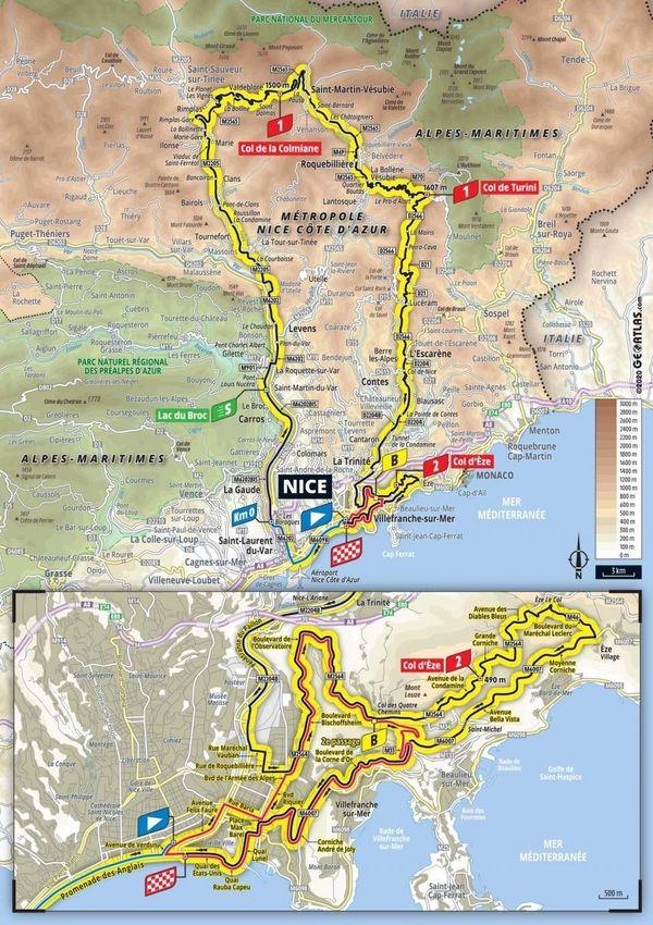 Montée au col de la Colmiane, les lacets menant au col de Turini puis se frotter au col d'Èze... Le parcours de la 2e étape du Tour de France sera spectaculaire !