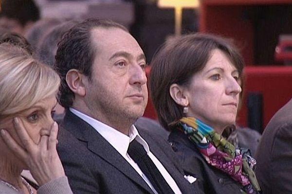 Patrick Timsit pendant le discours d'ouverture, Mémorial de Caen, 1er février 2013