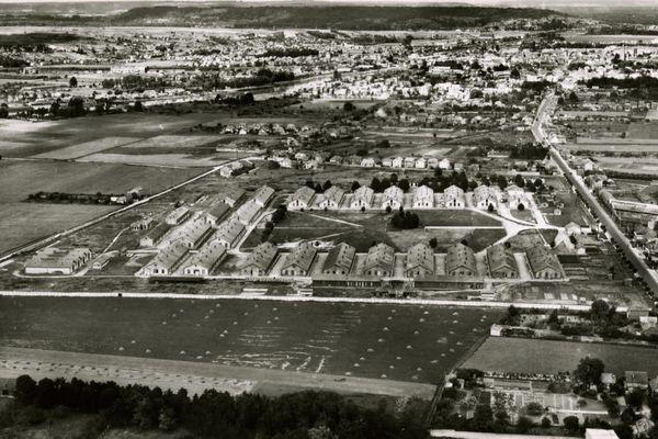Vue aérienne du camp de Royallieu de Compiègne en 1941