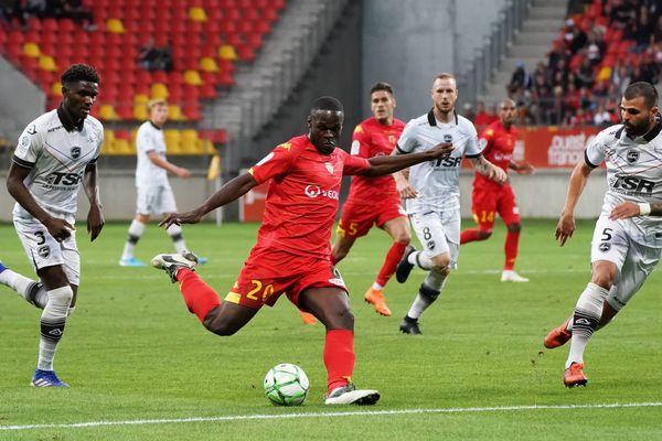 Match entre Le Mans FC et Valenciennes FC au Stade MMArena du Mans, le 9 août 2019