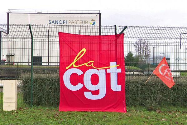 19 janvier 2021 : mobilisation des syndicats de Sanofi Val de Reuil (Eure)