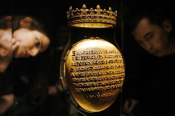 Le reliquaire ayant contenu le coeur d'Anne de Bretagne