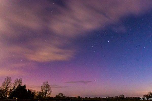 Les aurores boréales vues dans le ciel de l'Orne dans la nuit de dimanche à lundi.