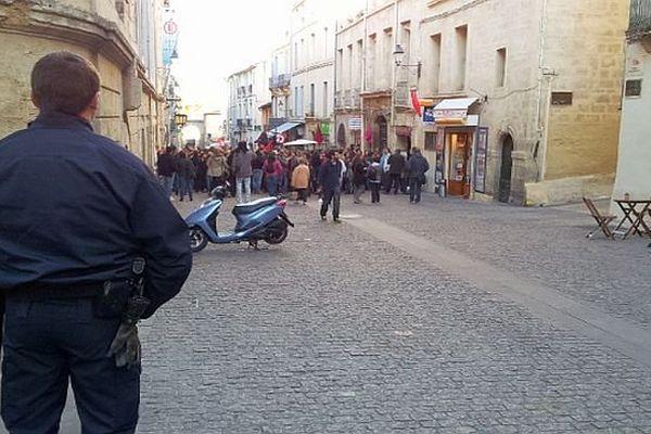 Montpellier - la manifestation des étudiants en ville - 14 novembre 2013.